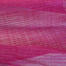 Vintage Fuchsia Pink Pleated Sinamay